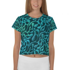 Mint Matista Crop Tee